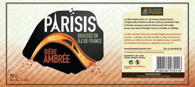 parisis ambree - biere paris
