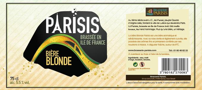 parisis blonde - biere paris