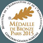 Médaille de bronze au Concours Général Agricole 2015