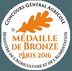 Médaille de bronze au Concours Général Agricole 2016