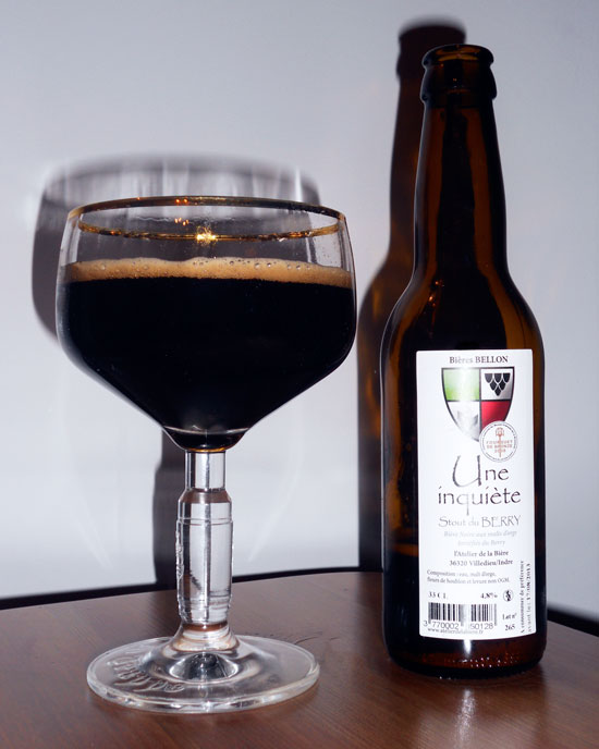 Une inquiète, bière noire du Berry - Atelier de la Bière