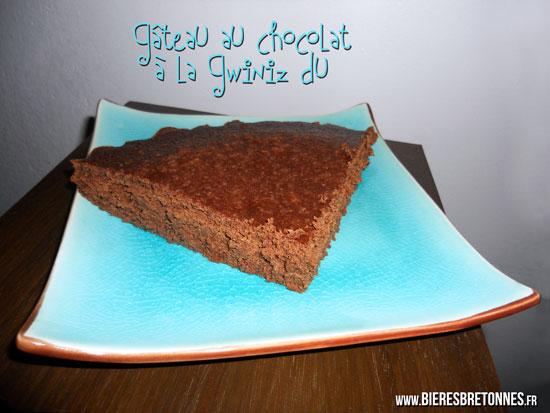 Gateau au chocolat a la biere Gwiniz Du