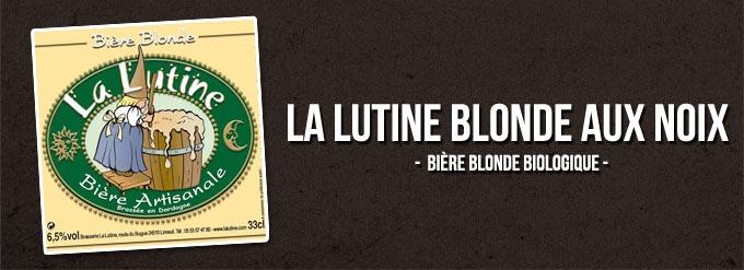 La Lutine bière blonde biologique aux noix