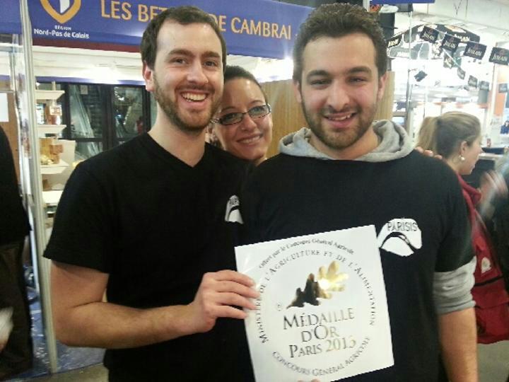medaille d'or brasserie parisis blanche
