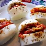 Croquettes mozarella tomates confites basilic