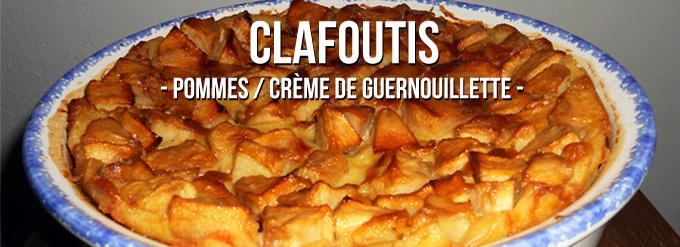 Clafoutis pommes crème de Guernouillette