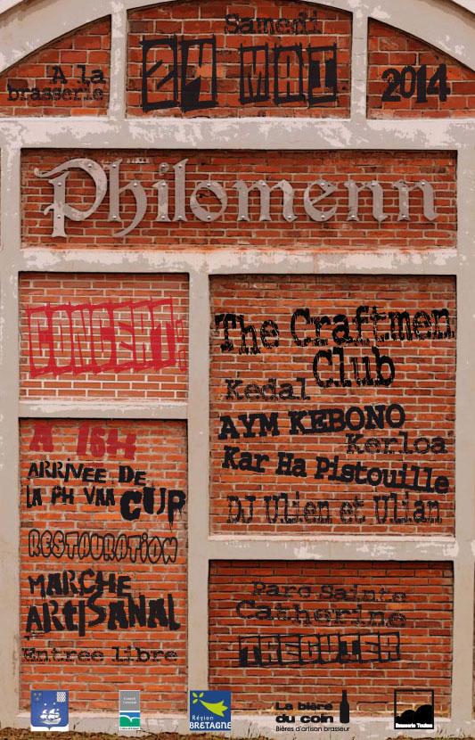 Affiche inauguration brasserie philomenn 2014