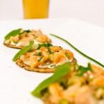 tartare de saumon biere et blinis blé noir