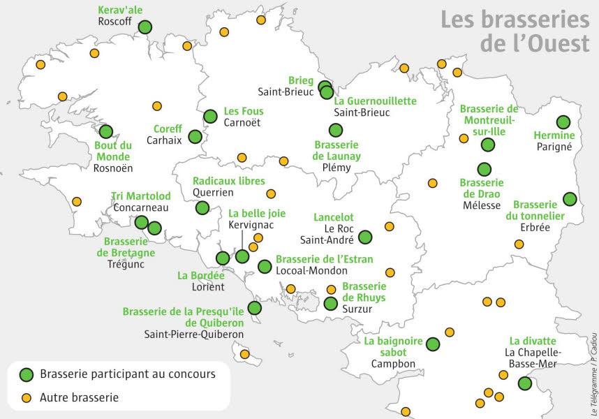 carte des bières du concours Terralies