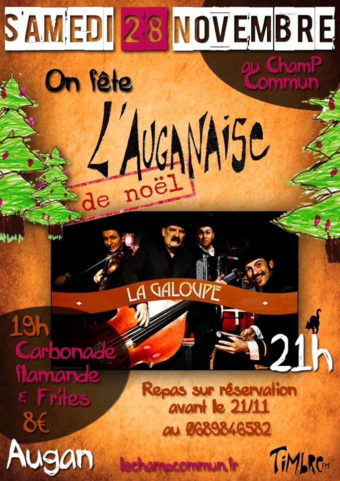 affiche auganaise noel