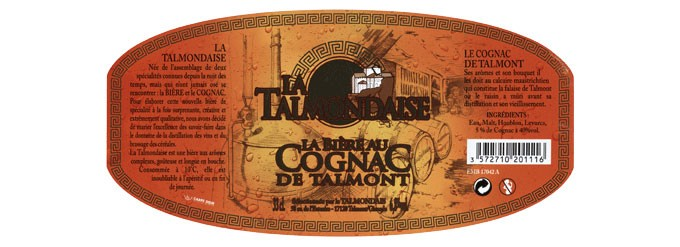 La Talmondaise, bière au Cognac de Talmont 6,8°