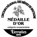 Médaille d'or Terralies 2015 catégorie rousse/ambrée