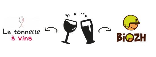 Soirée dégustation croisée vins et bières artisanales Tonnnelle à Vins / Biozh