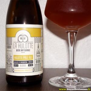 Zoom étiquette Hulotte Pale Ale