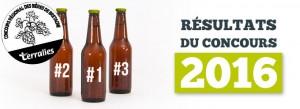 Résultats du concours régional de bières bretonnes Terralies 2016