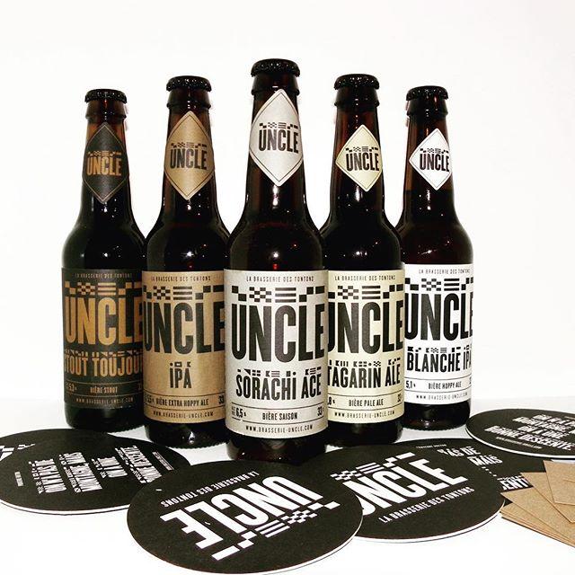 La gamme de bières de la Brasserie Uncle