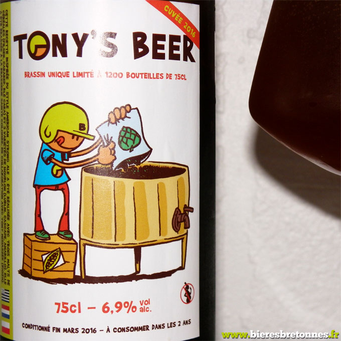 Étiquette Tony's Beer 2016 – Sainte Colombe