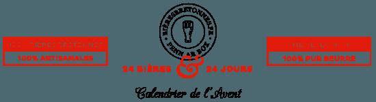 Calendrier de l'Avent de bières bretonnes, une sélection de 24 bières artisanales sélectionnées