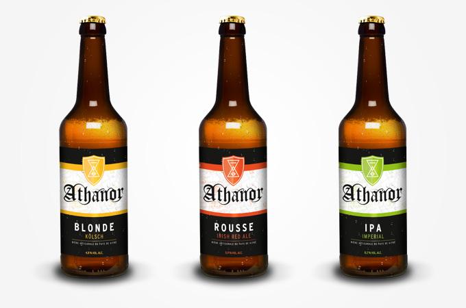Gamme de bières Athanor