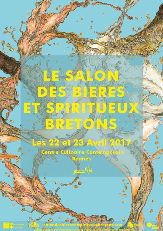 Affiche salon bières spiritueux bretons Rennes 22 et 23 avril 2017