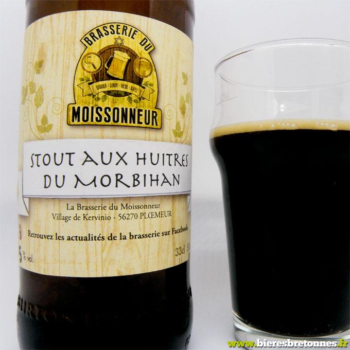 Étiquette Stout aux huîtres du Morbihan – Brasserie du Moissonneur