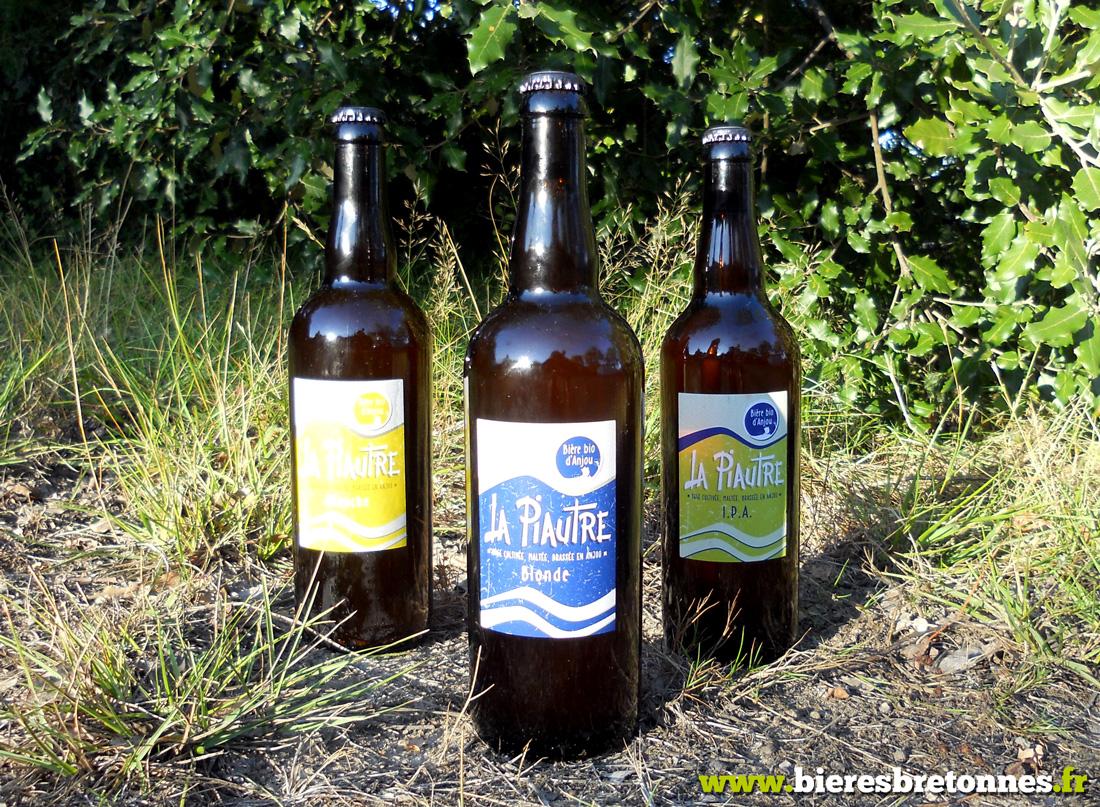Gamme de bières La Piautre de la Fabrique des Bières d'Anjou