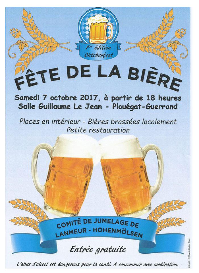 Affiche Fête de la bière à Plouégat-Guérand