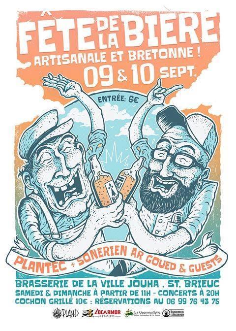 Fête de la bière artisanale et bretonne 9-10 septembre 2017 à Saint-Brieuc