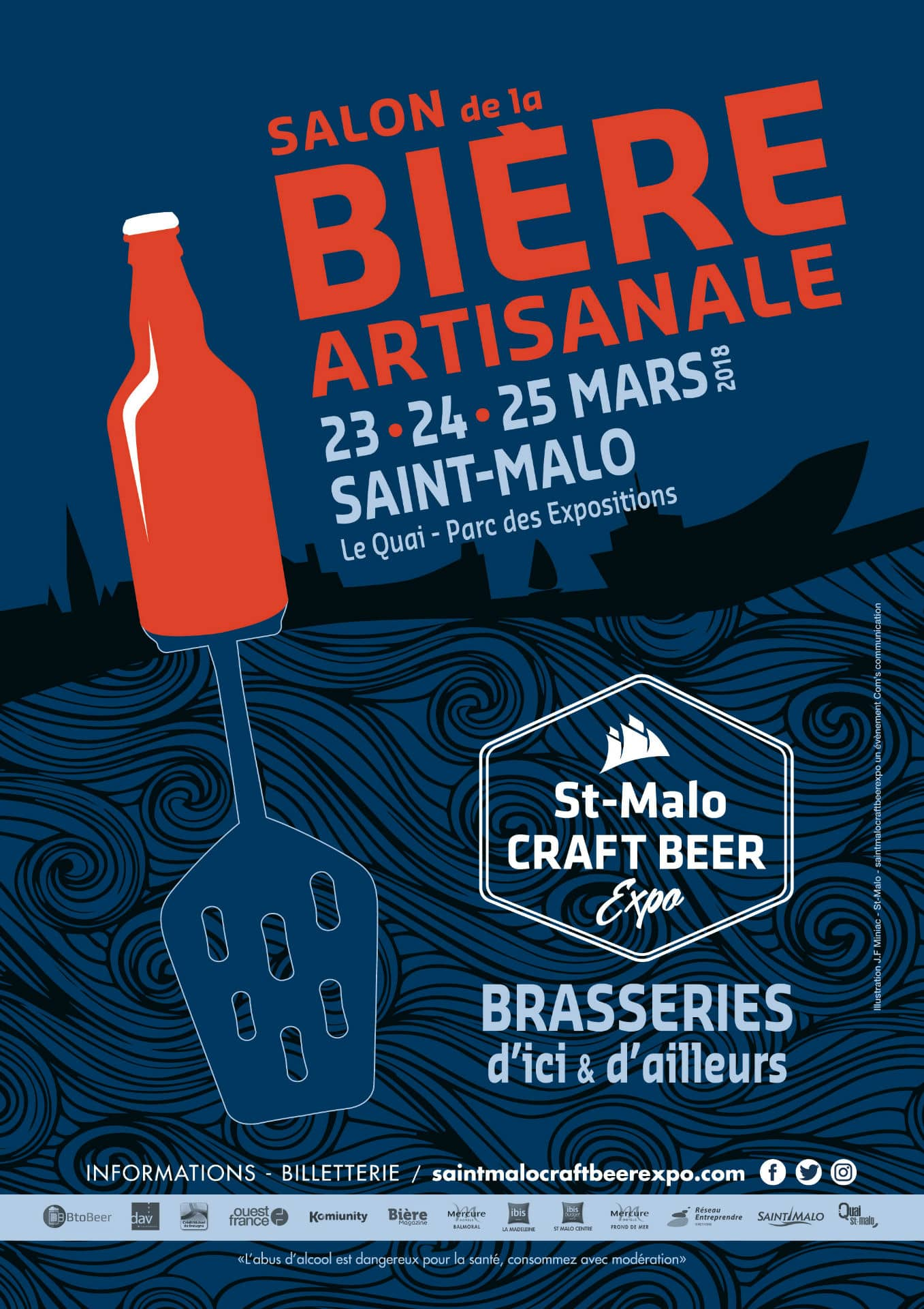 "Affiche du salon ""Saint-Malo Craft Beer Expo"""