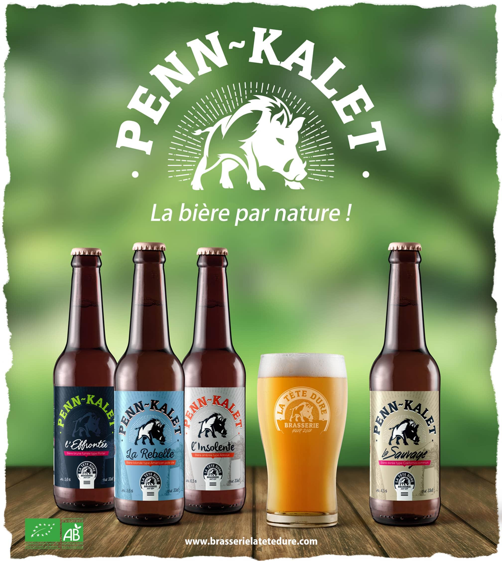 Les bières de la Brasserie La Tête Dure à Guer dans le Morbihan (56)