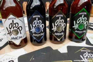La belle gamme de bières de la Brasserie Old Hop