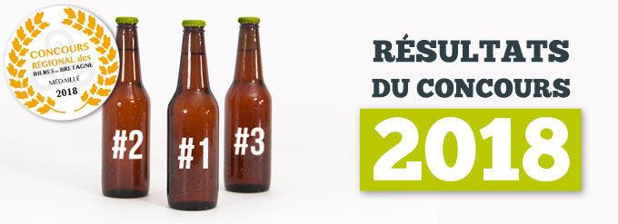 Les bières primées au concours des bières bretonnes de Terralies 2018