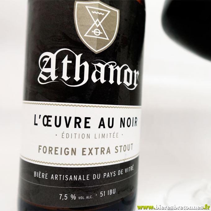 Étiquette L'Oeuvre Au Noir Foreign Extra Stout – Brasserie Athanor