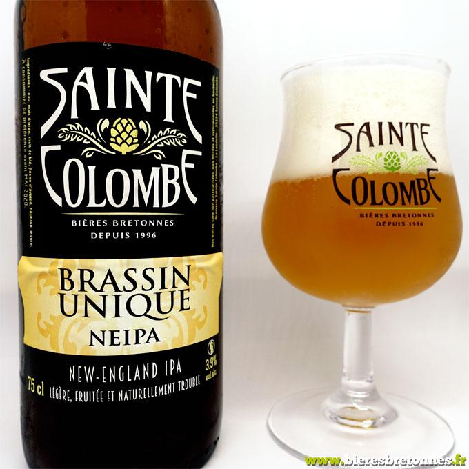 Etiquette Sainte Colombe Brassin Unique Neipa