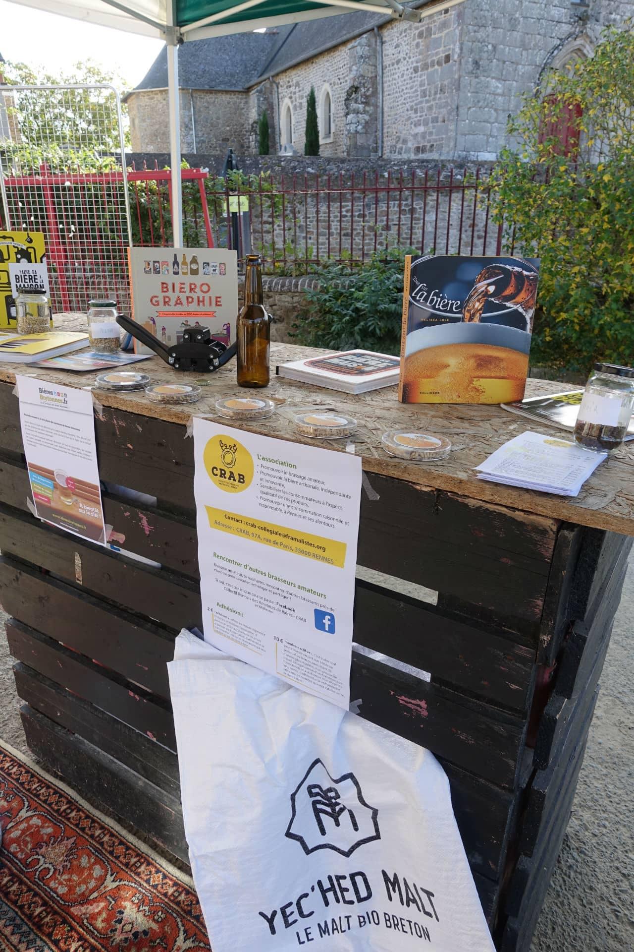 Le stand du CRAB (Collectif Rennais des Amateurs de Bières) et de BièresBretonnes.fr : quelle ambiance déjà à 10h du matin ! ^^