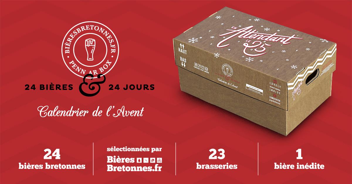 Calendrier de l'Avent bière bretonne 2018