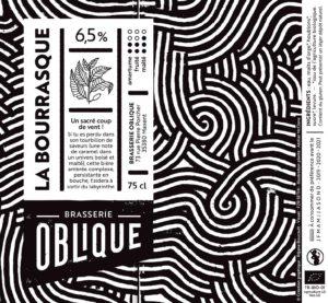 Etiquette Brasserie Oblique La Bourrasque