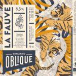 Etiquette Brasserie Oblique La Fauve