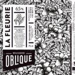 Etiquette Brasserie Oblique La Fleurie