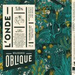 Etiquette Brasserie Oblique L'onde