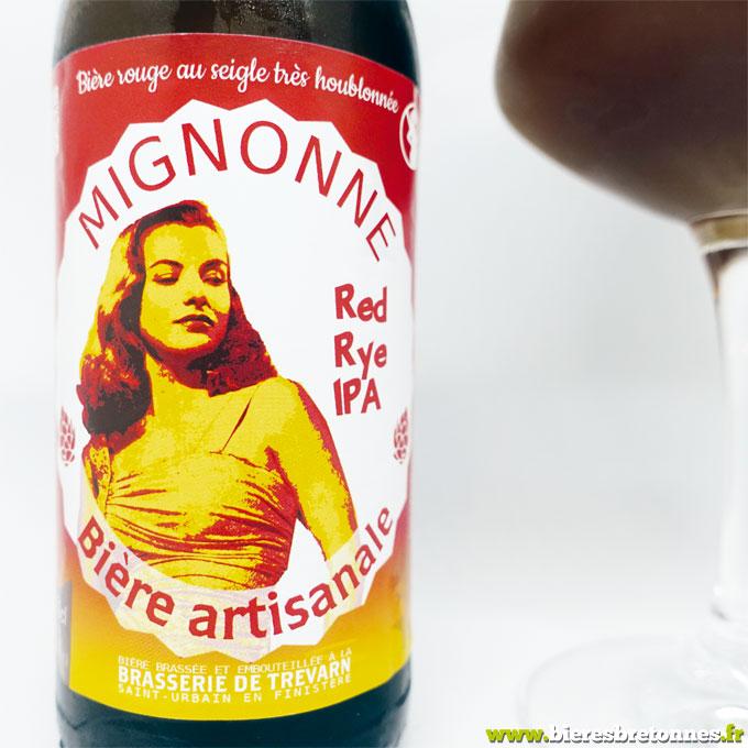 Étiquette Mignonne Red Rye IPA – Brasserie de Trévarn