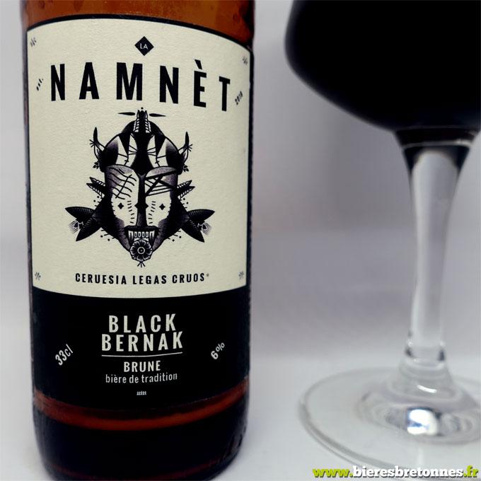 Étiquette Namnèt Black Bernak – Brasserie Le Ponceau