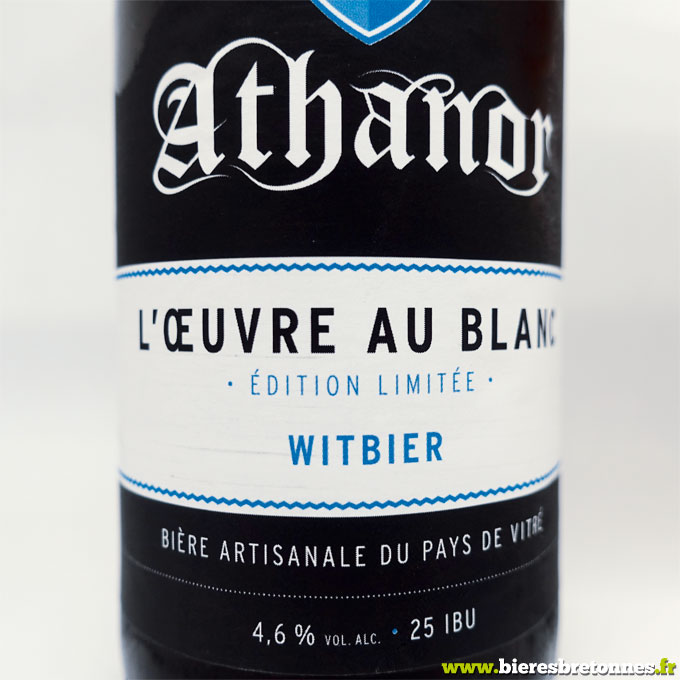 Etiquette L'Oeuvre Au Blanc Witbier – Brasserie Athanor
