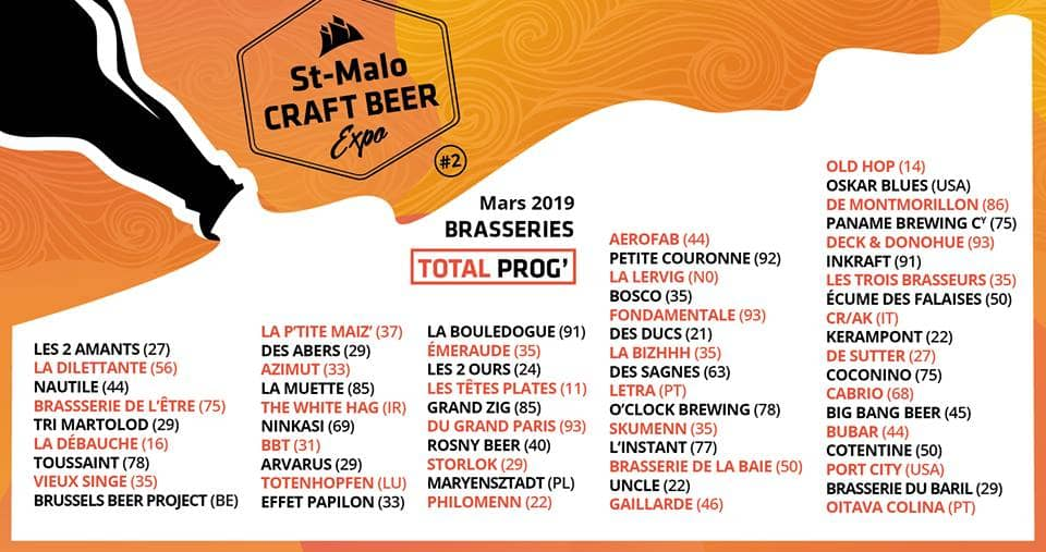 Programmation Finale Saint Malo Craft Beer Expo
