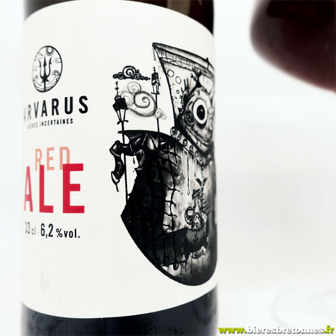 Étiquette Arvarus Red Ale 1 – Brasserie Arvarus, bières incertaines