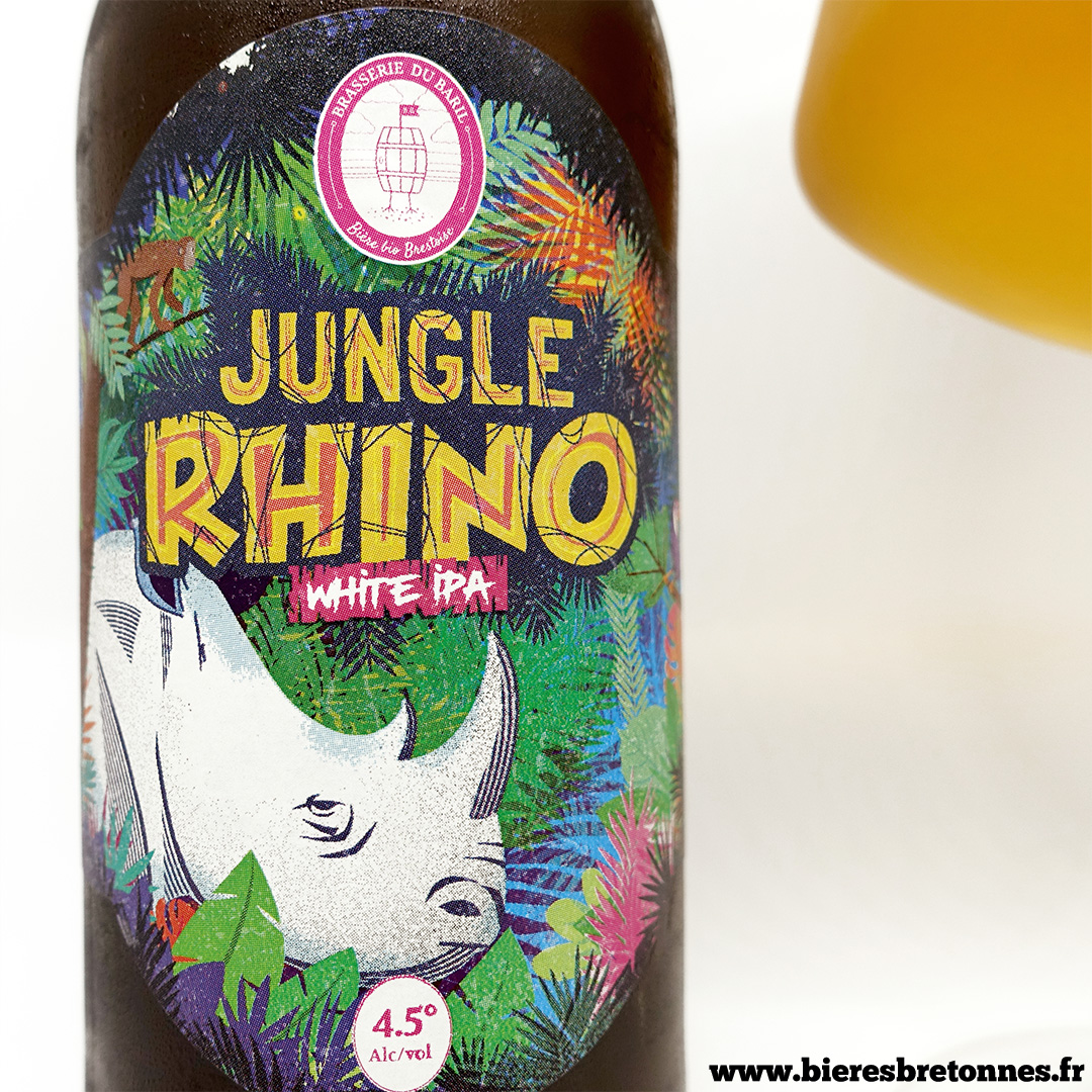 Étiquette Jungle Rhino Wheat IPA – Brasserie de Baril