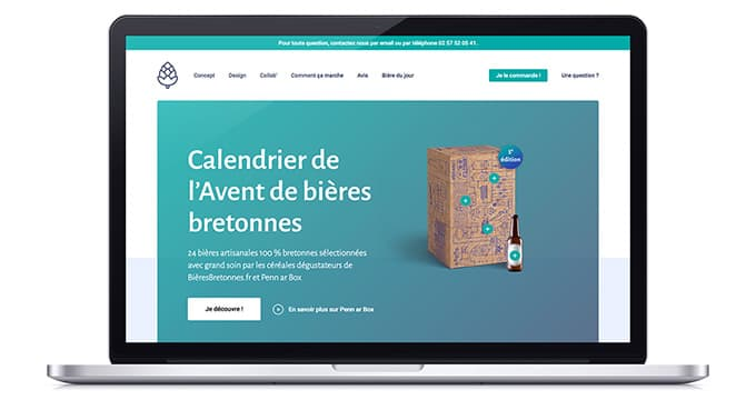 Mockup Site Web Calendrier Avent Bieres 2019
