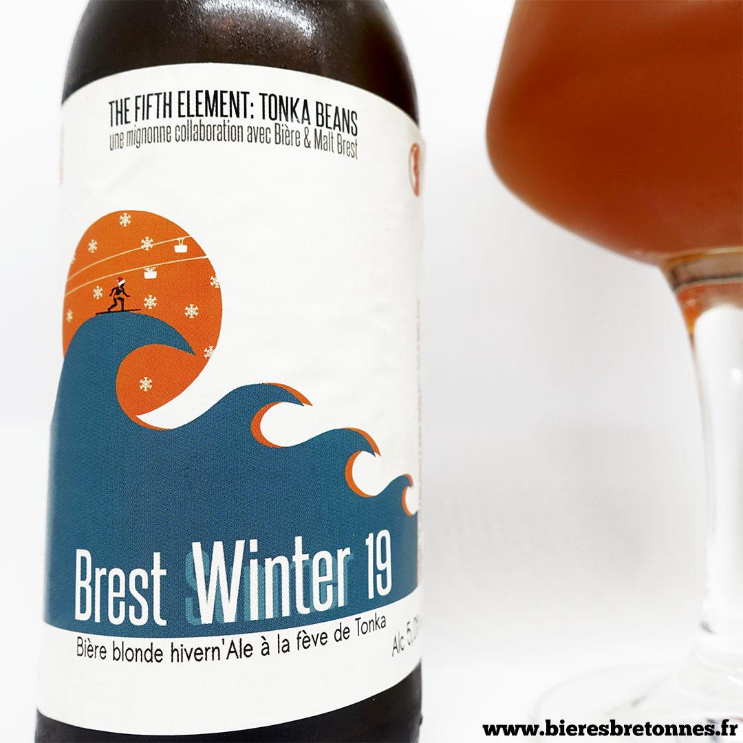 Étiquette Brest Winter 19 – Brasserie de Trévarn en collaboration avec Bière et Malt Brest