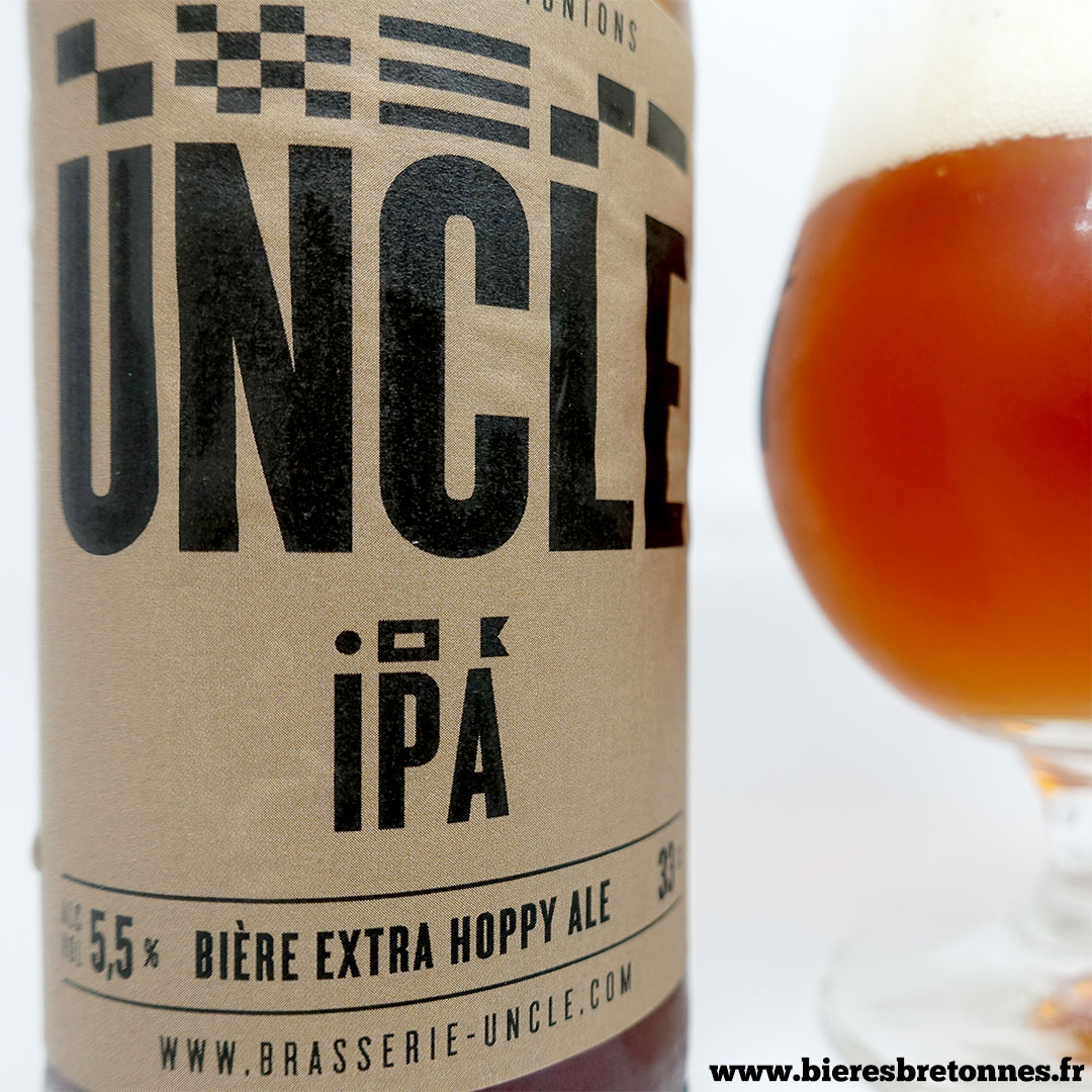 Étiquette Uncle IPA – Brasserie Uncle